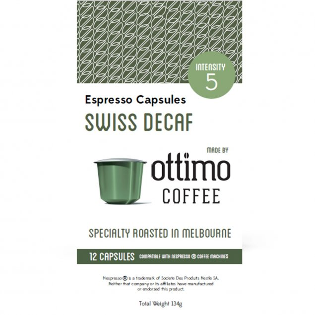 Biodegradable and compostable coffee capsules / pods - Decaf