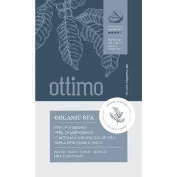 Ottimo Coffee Certified Organic Rainforest Alliance Coffee