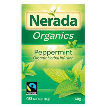 Nerada Organic Fair Trade Peppermint Herbal Infusion Tea 200 bags